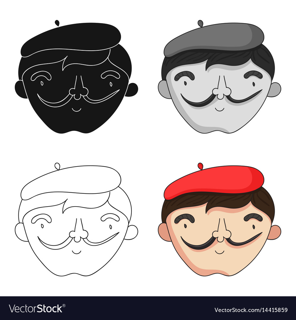Self Portrait Artist Icon In Cartoon Style Vector Image