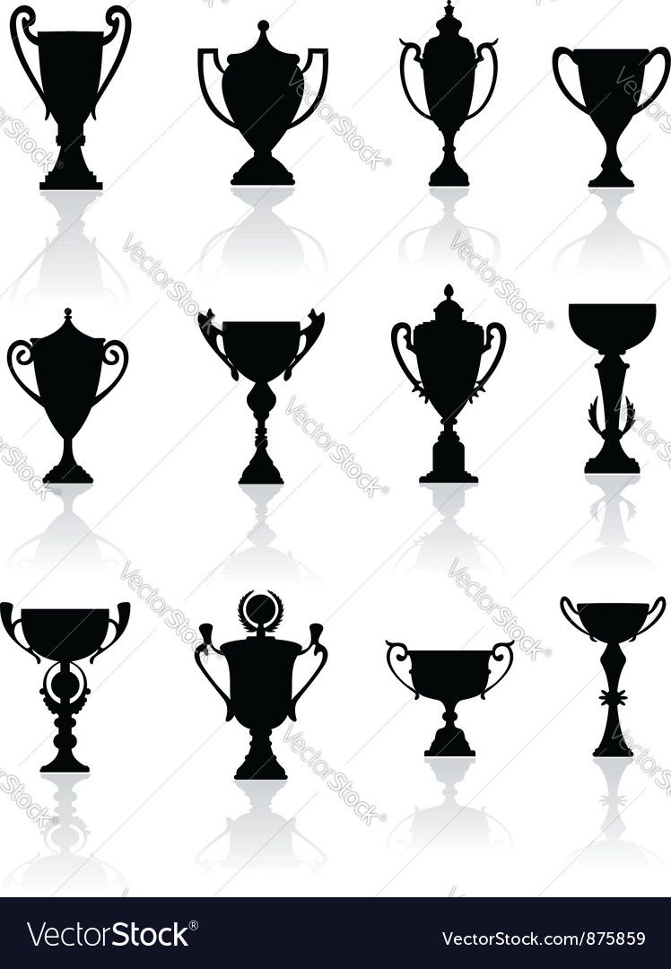 Sports trophies and awards vector image