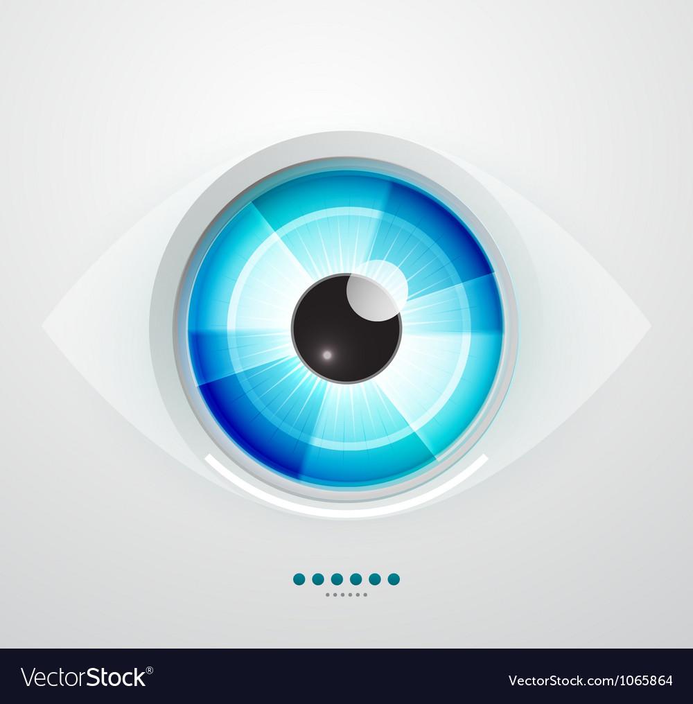 Abstract techno eye vector image