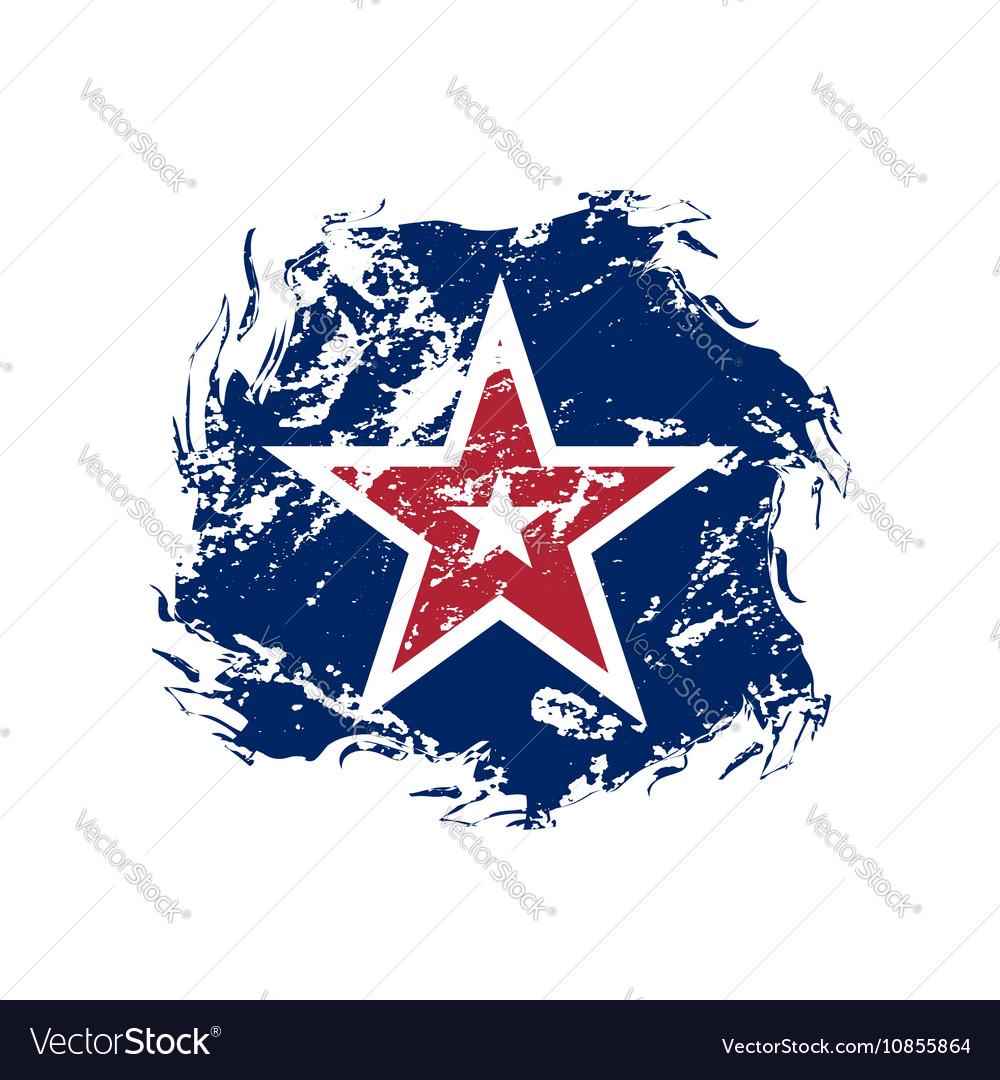 American flag star grunge symbol