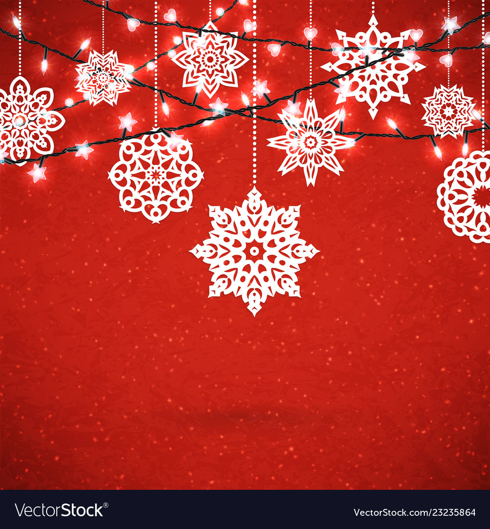 Background for merry christmas poster with paper