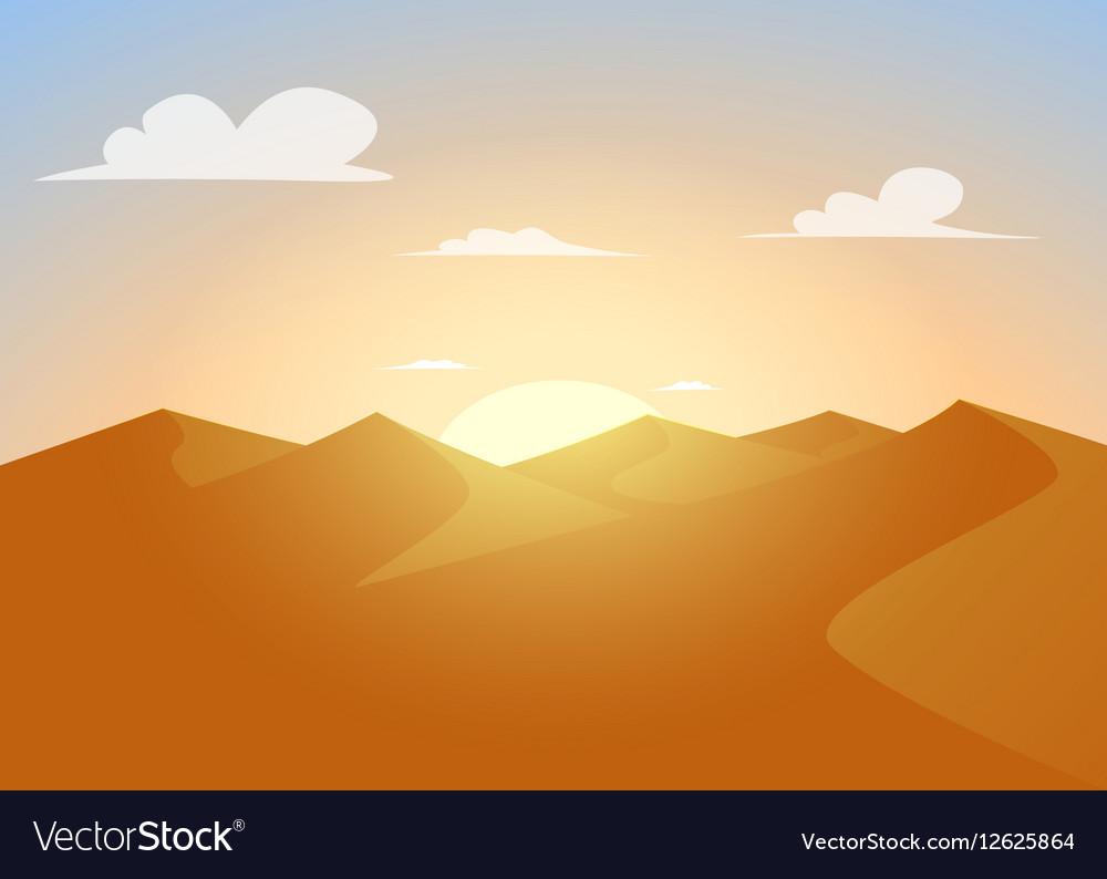 Desert landscapeDunes with sunset