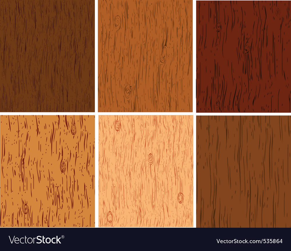 Set from wooden structures of different breeds of vector image