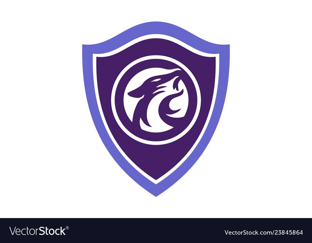 Shield jaguar abstract logo icon