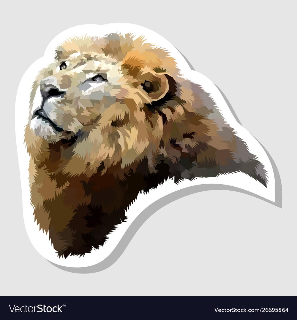 Sticker lion face