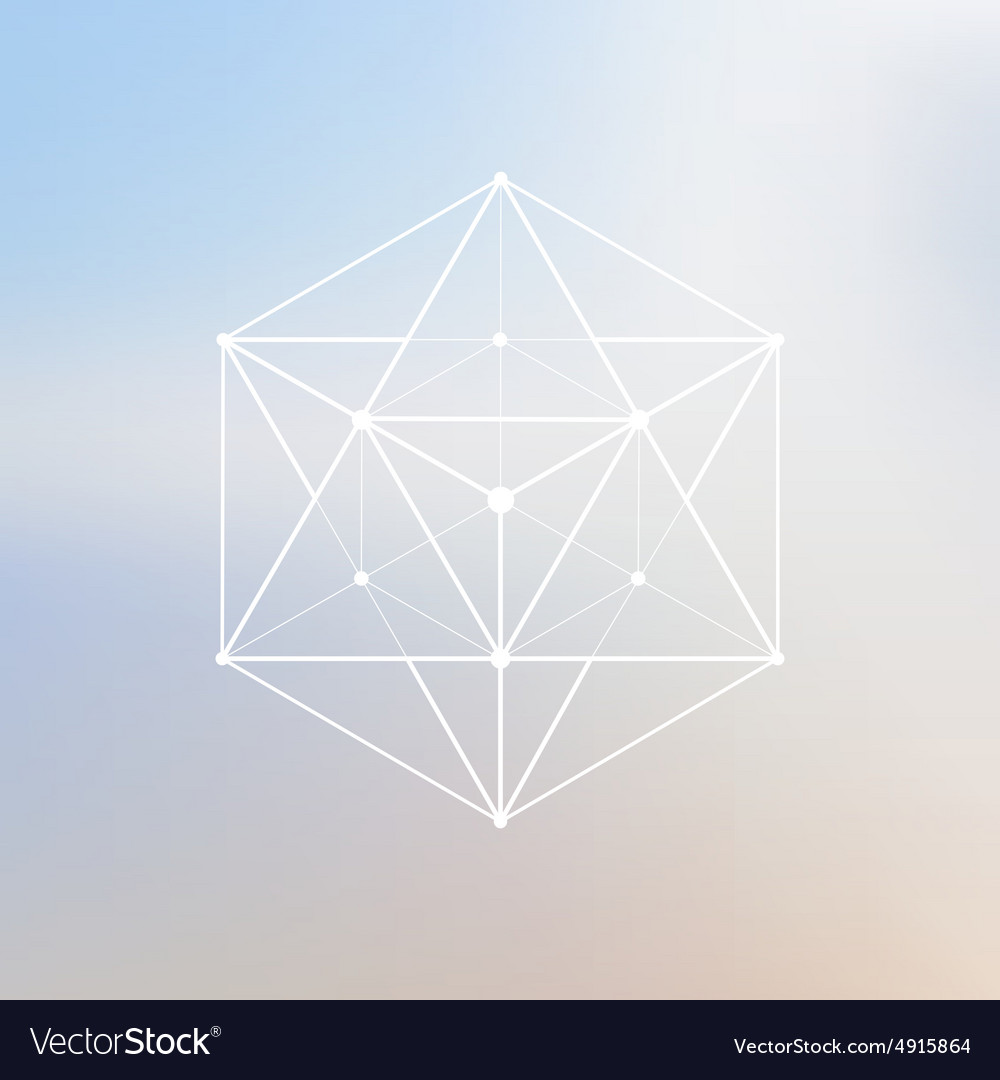 Wireframe mesh polygonal element Polygon with