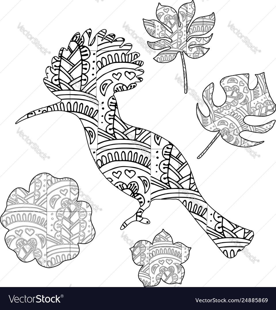 A bird in zentangl style