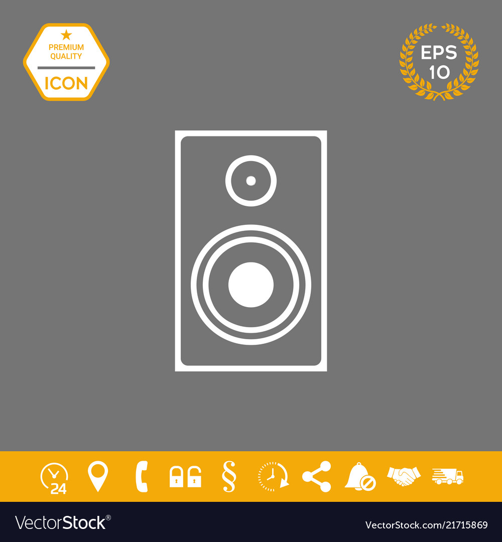 Audio speaker icon graphic elements for your