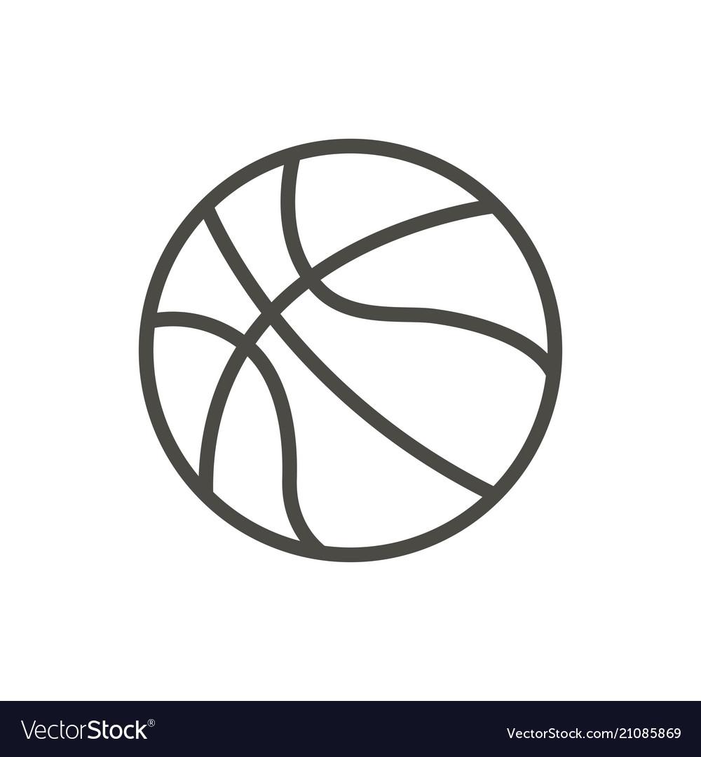 Basketball ball icon line basket symbol
