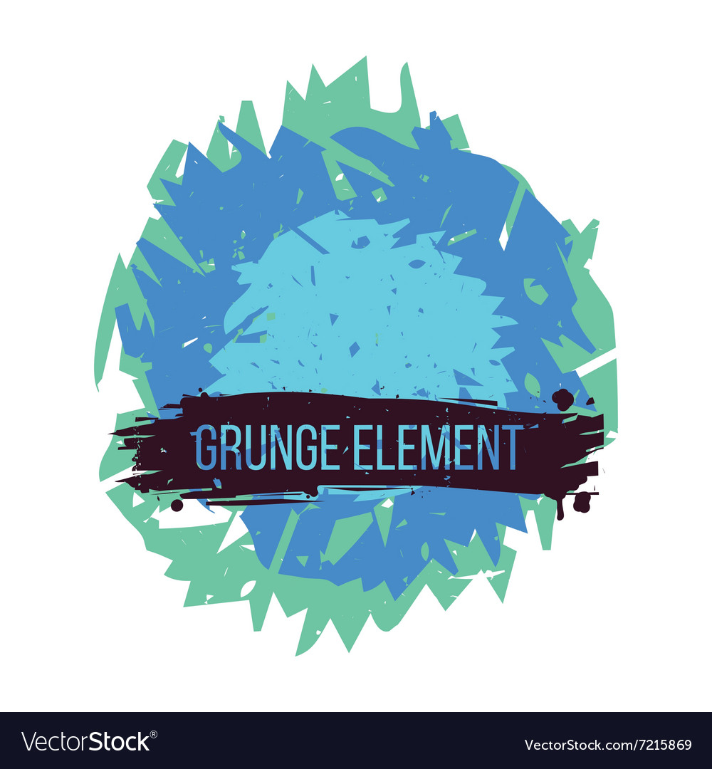 Color grunge abstract element