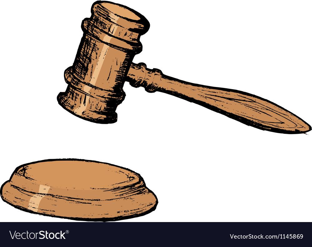 Court gavel vector image