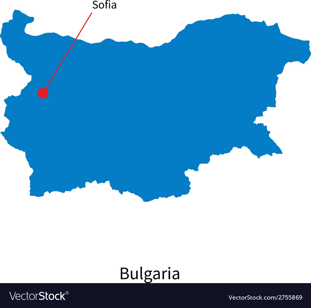 Detailed map of Bulgaria and capital city Sofia