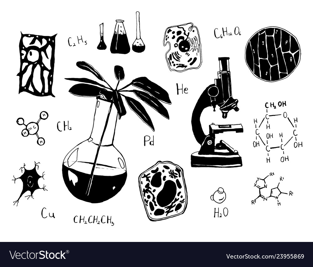 Hand drawn sketch of chemistry