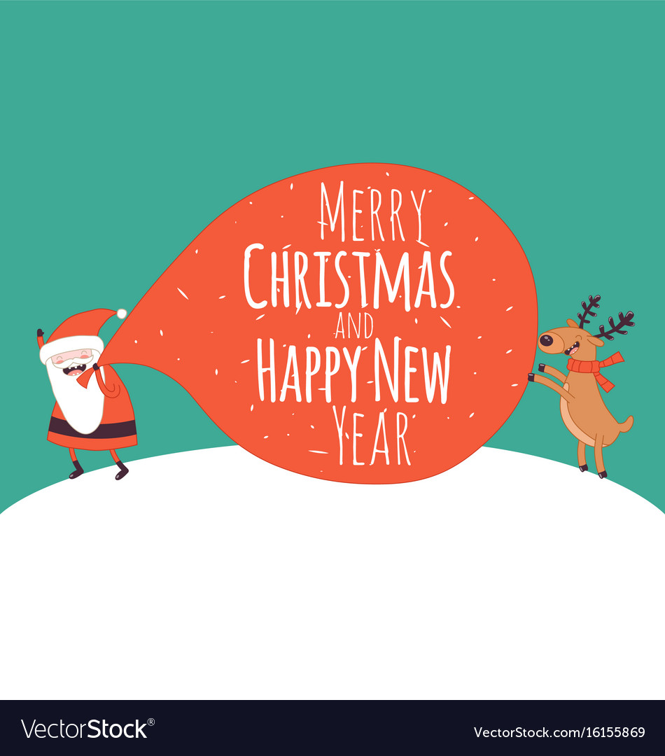Happy new year card santa s greetings