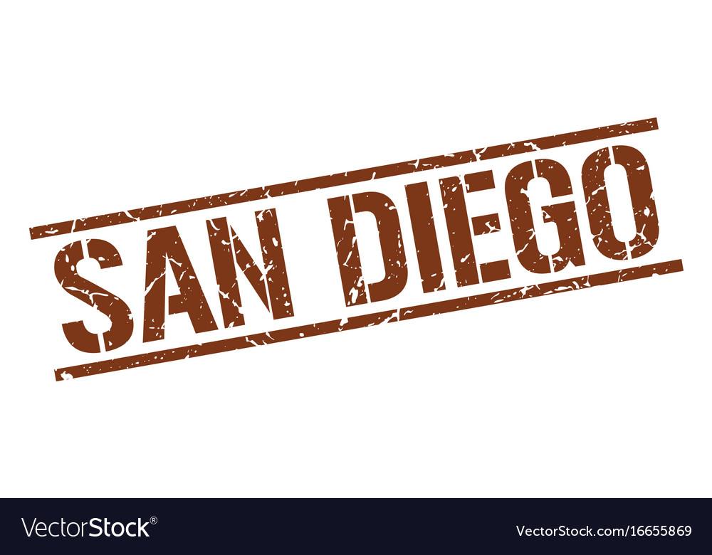 San diego brown square stamp