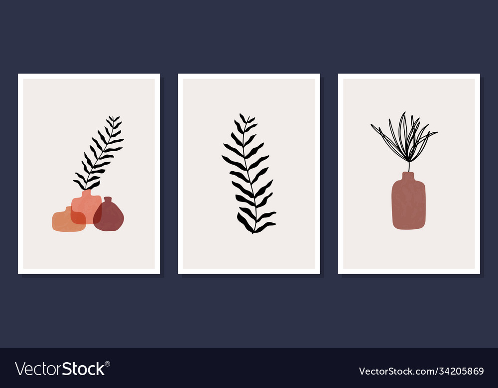 Set 3 modern aesthetic posters for home decor