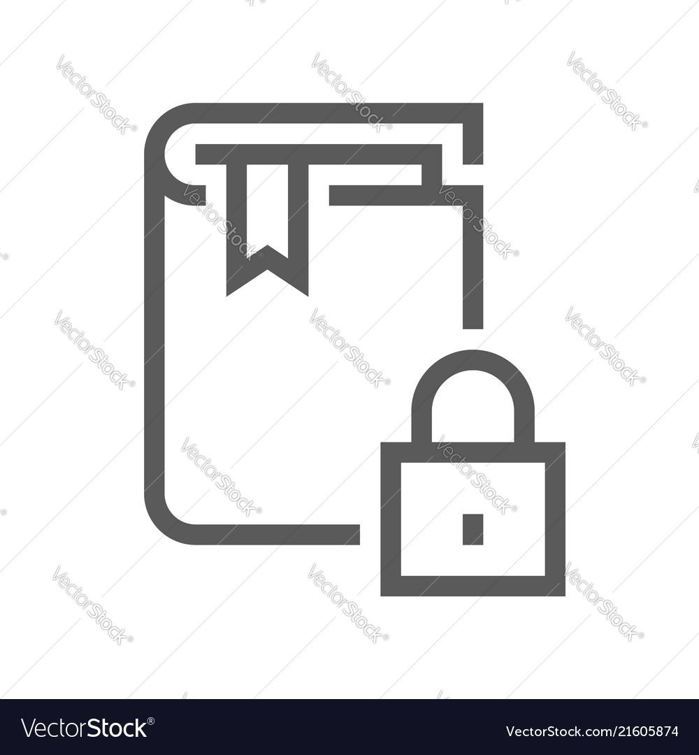 Book flat line icon