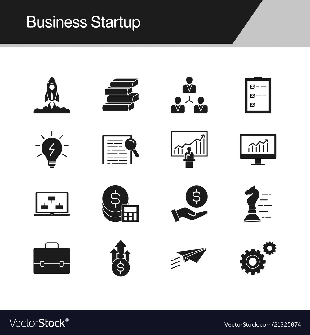 Business startup icons design for presentation