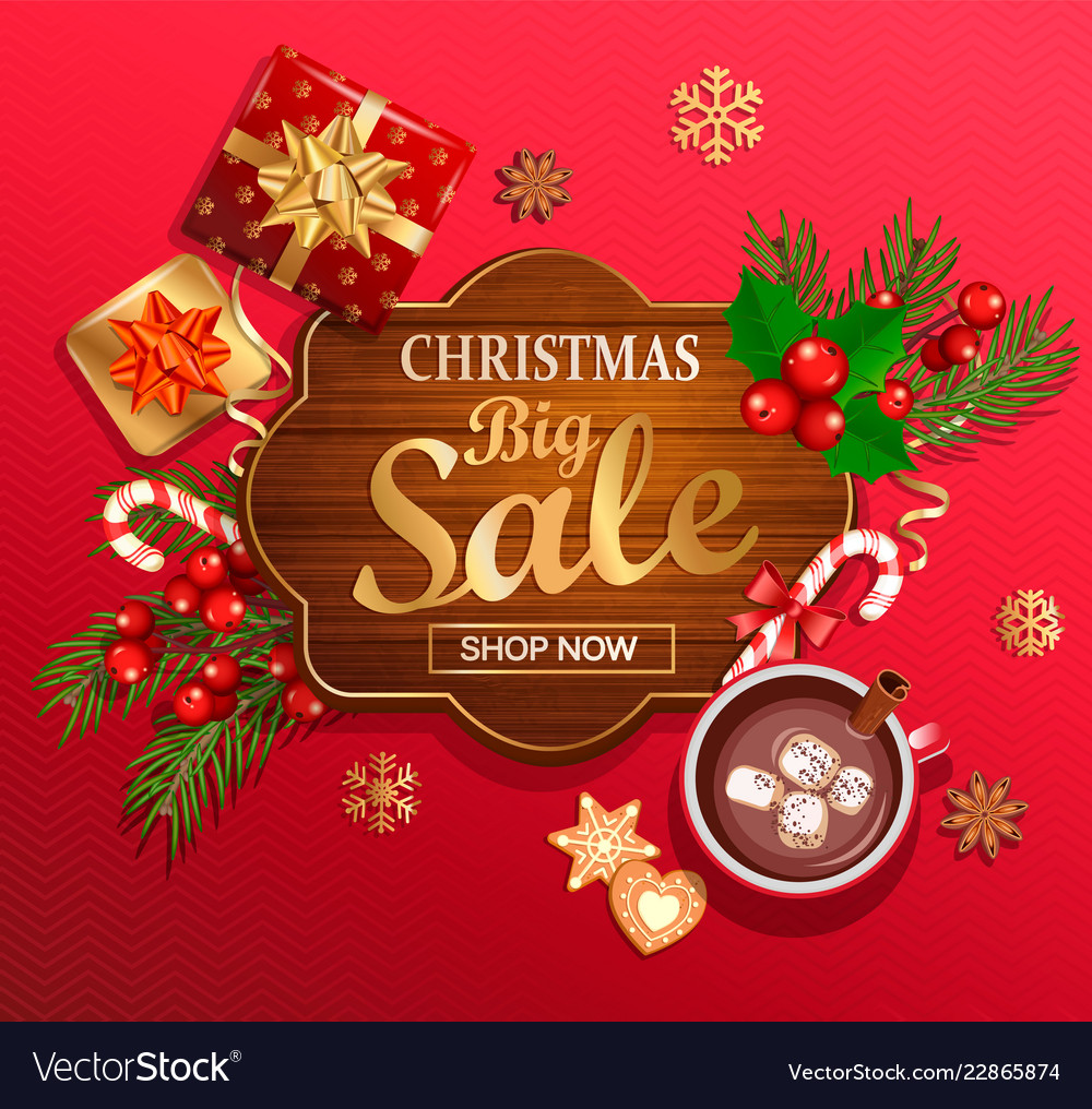 Christmas big sale card for new year holidays