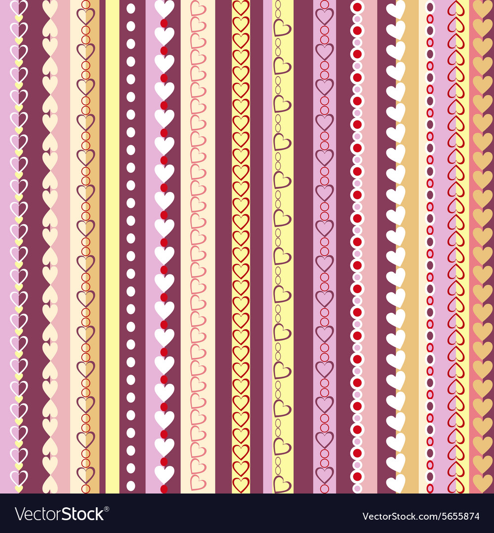 Decorative seamless pattern with vertical stripes