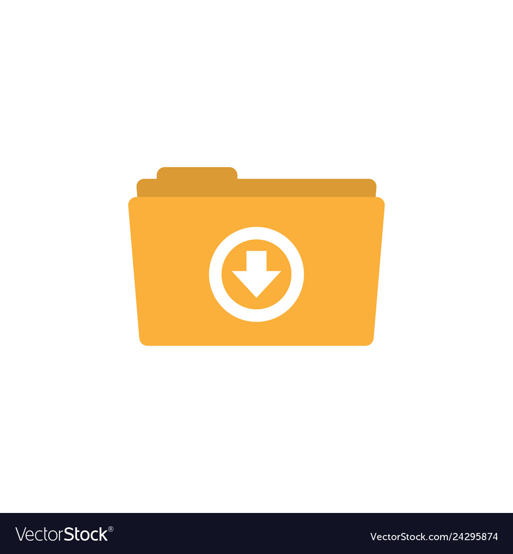 Download folder icon design template isolated