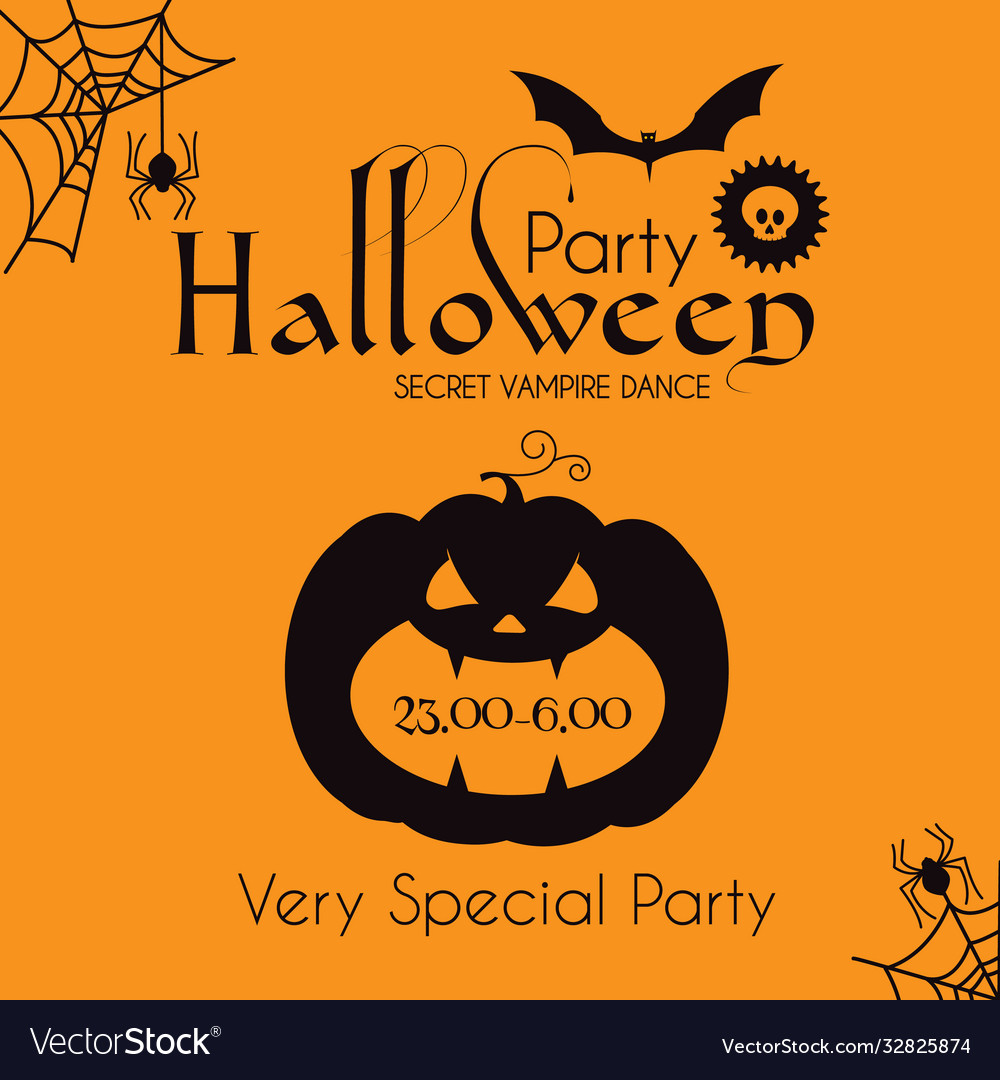 Halloween party silhouette design template