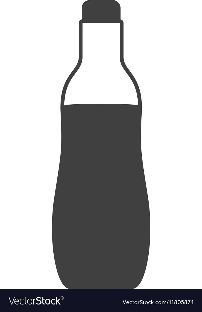 Silhouette bottle soda graphic icon vector image