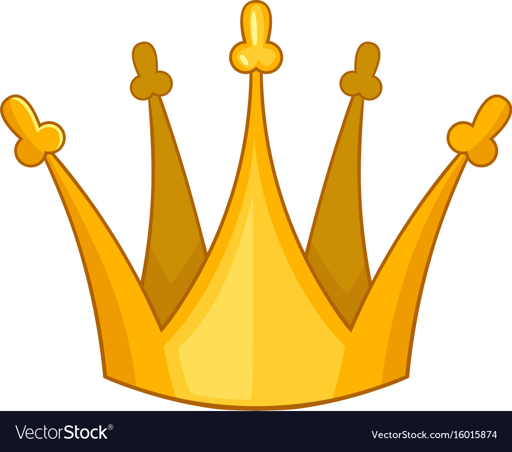 Son Of King Crown Icon Cartoon Style Royalty Free Vector