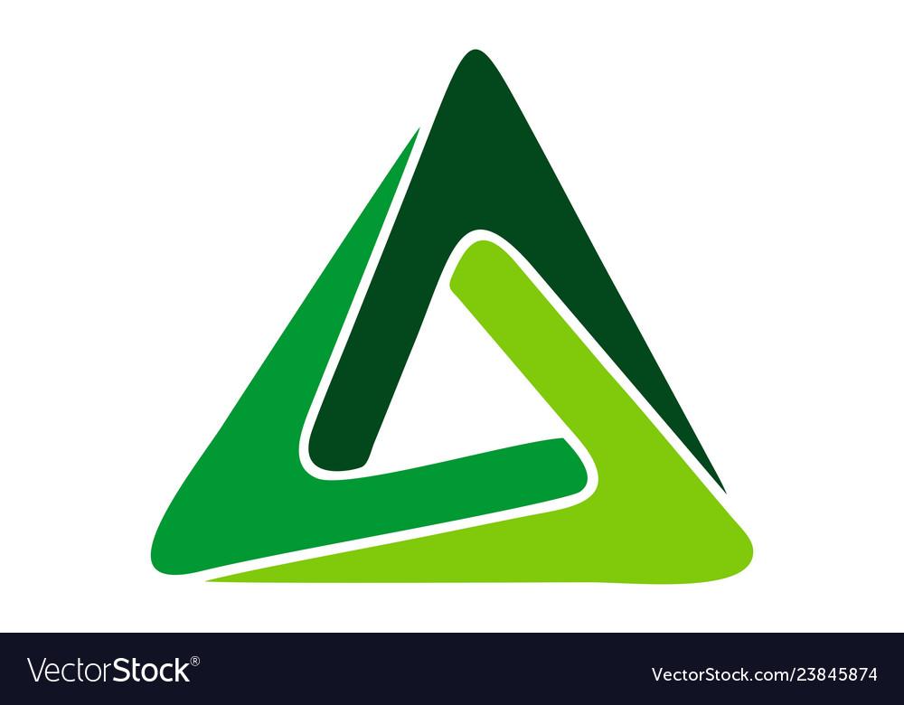 Triangle logo concept icon