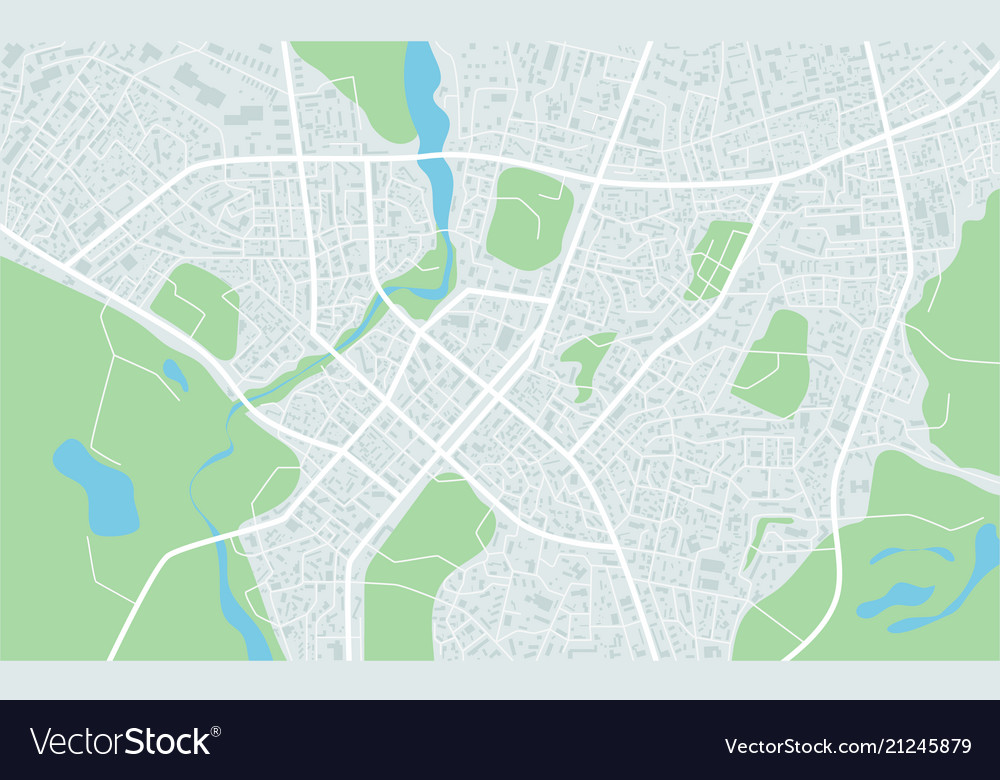 Abstract flat map of city plan of town city