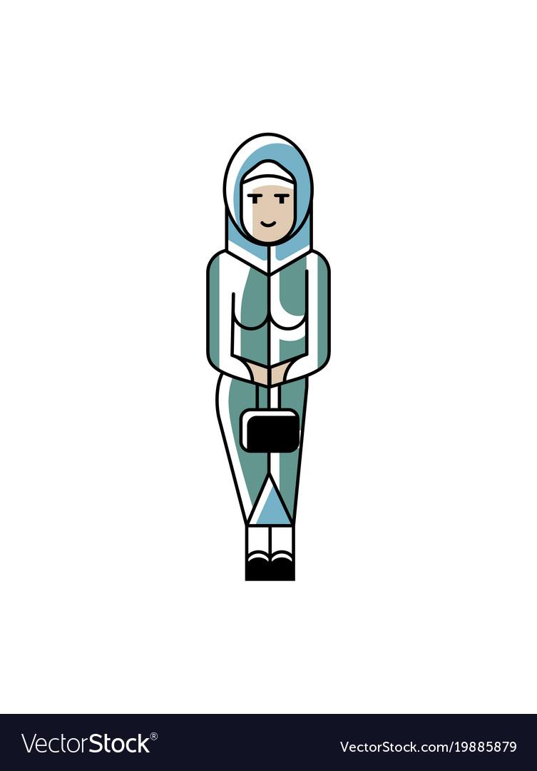 Arabic woman with ladies handbag