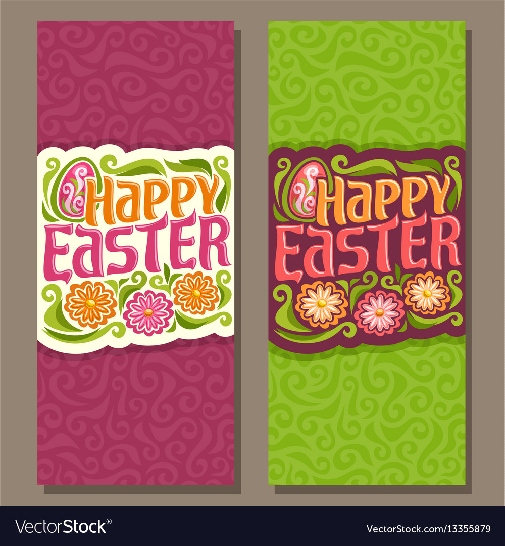 Banners for happy easter