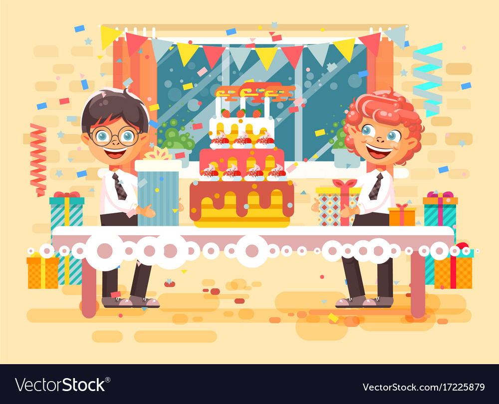Cartoon Character Children Two Royalty Free Vector Image