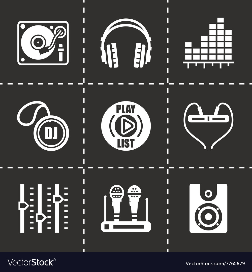 DJ icon set