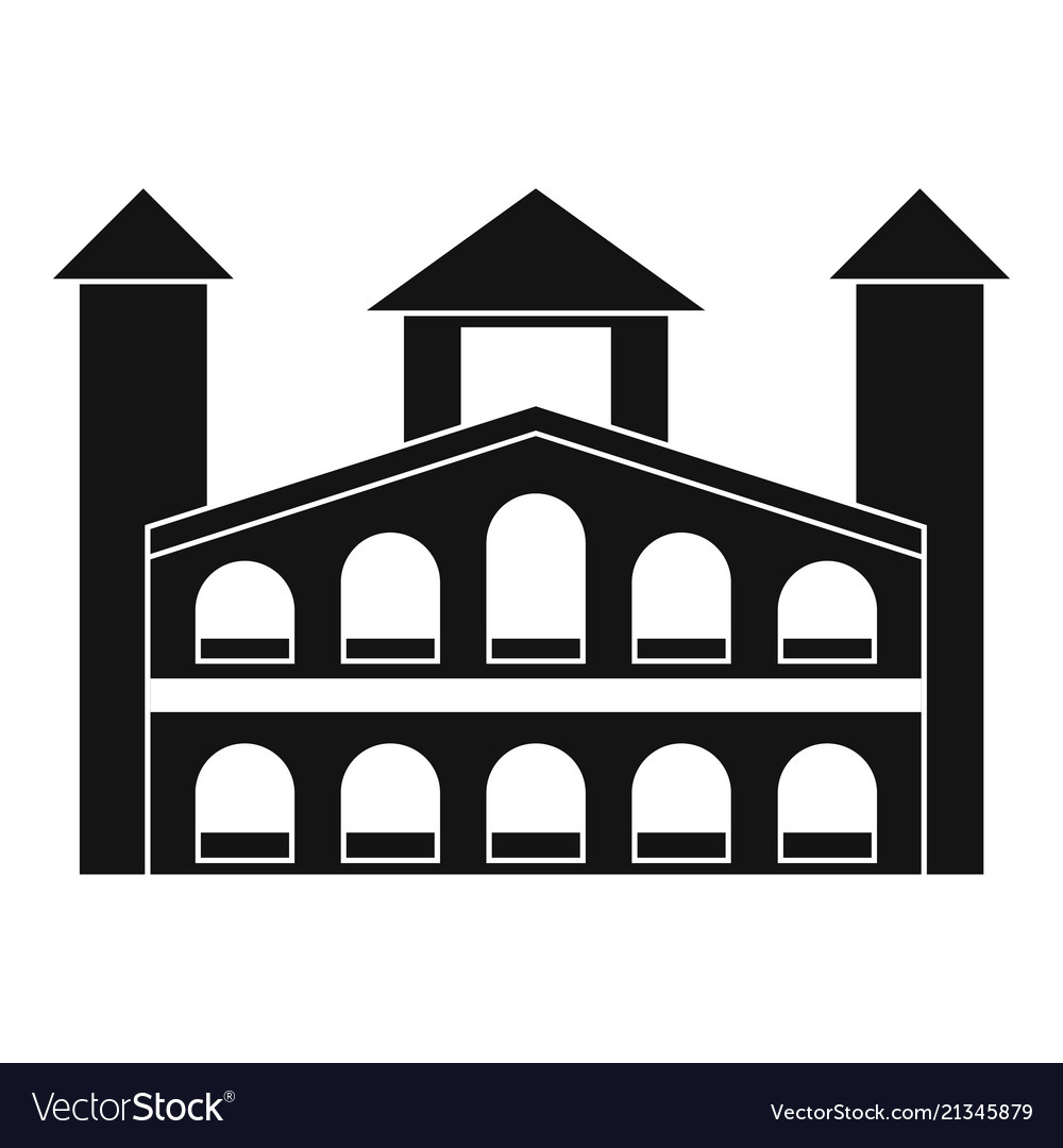 Historical building icon simple style vector image