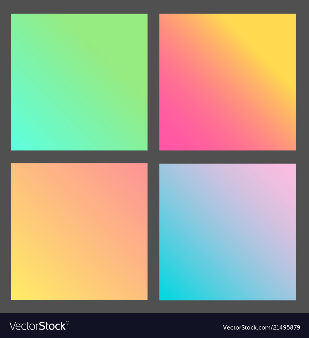 Set of gradient futuristic square design