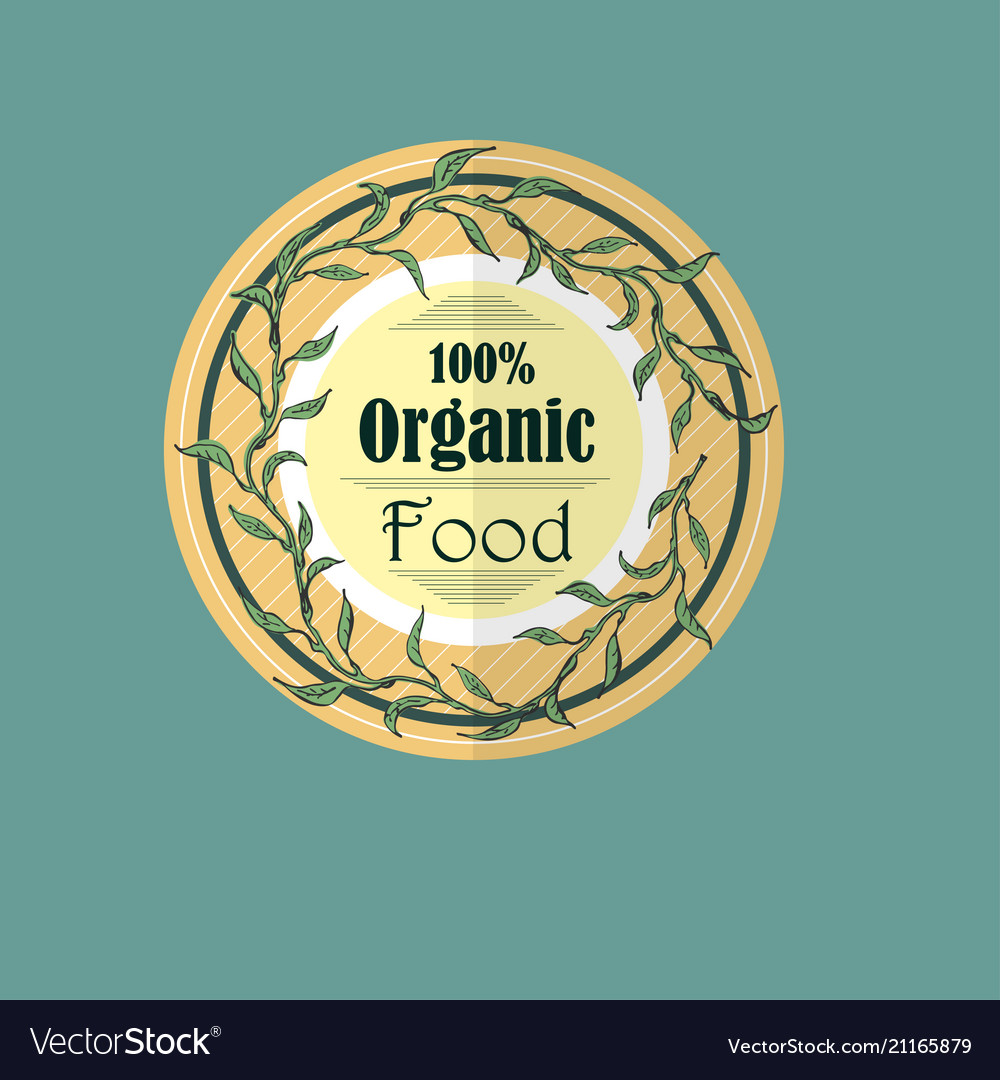 Single round label for organic products