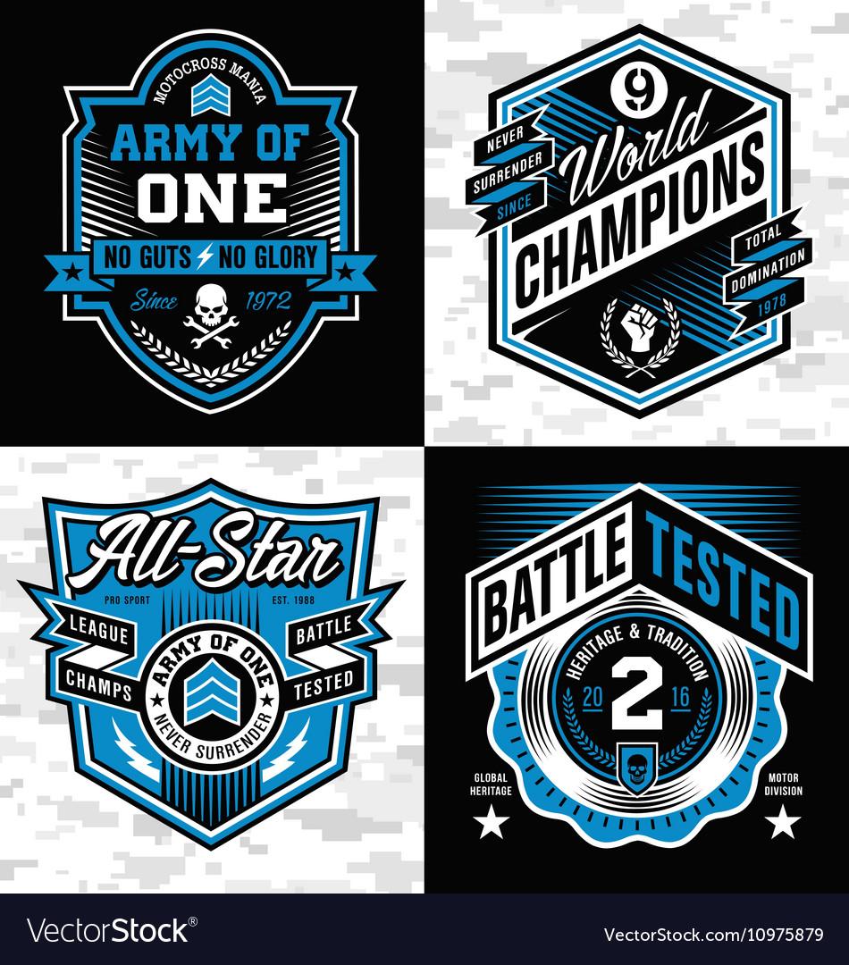 Sports crest emblem set vector image