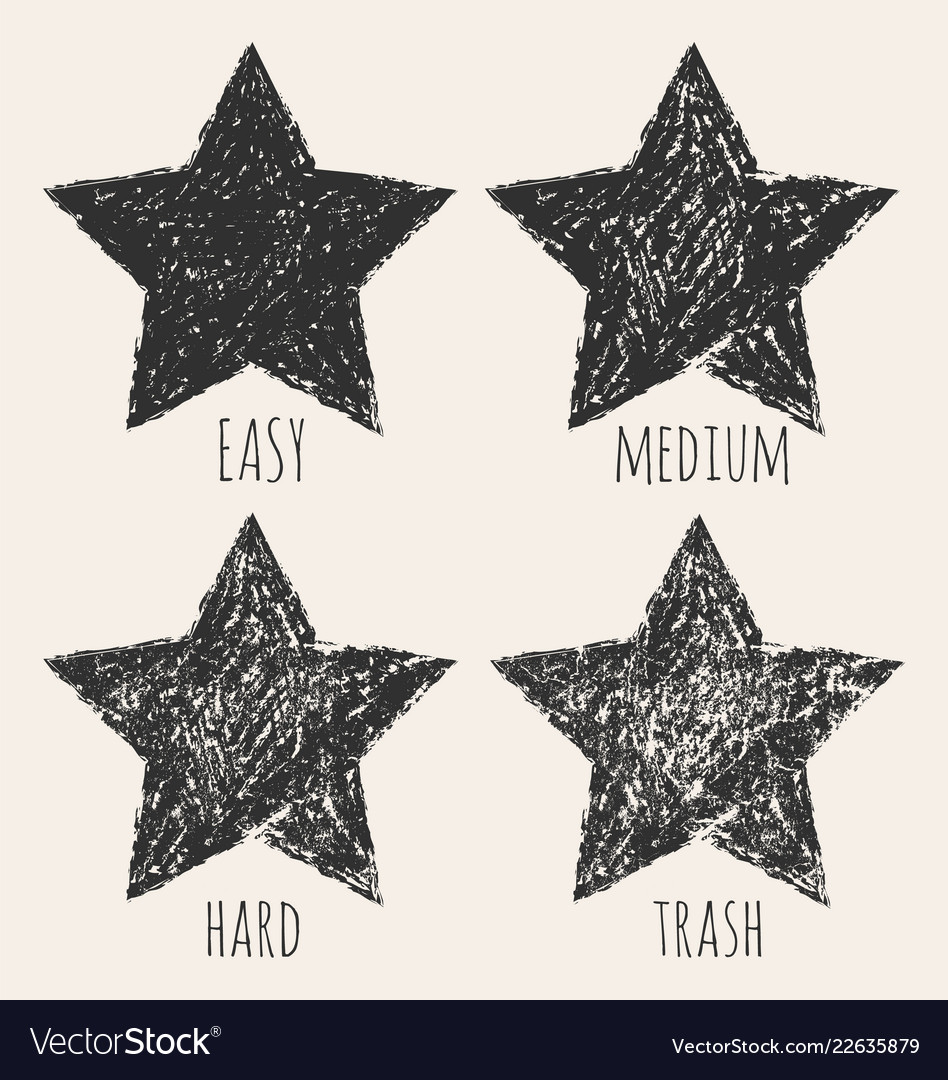 Stars in a grunge style