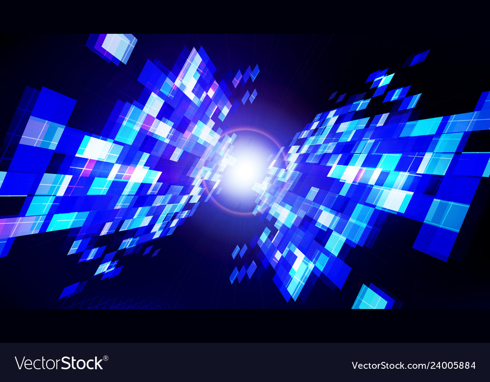 Abstract technology blue dark background with