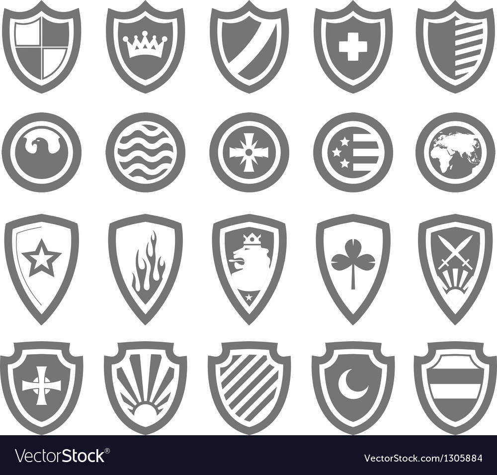 Abstract victorian arms on shields vector image