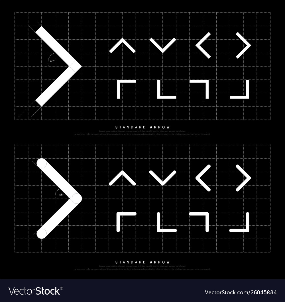 Arrow icon modern standard sign arrows rounded