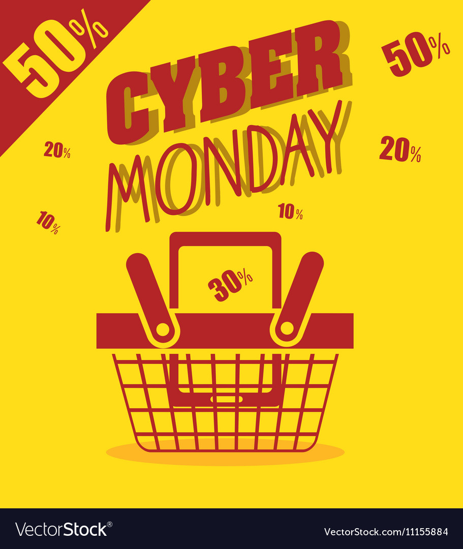 Cyber monday basket cellphone discount yellow