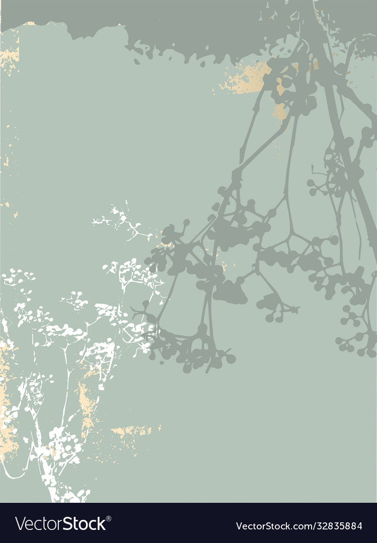 Floral rustic background with hand drawn doodle