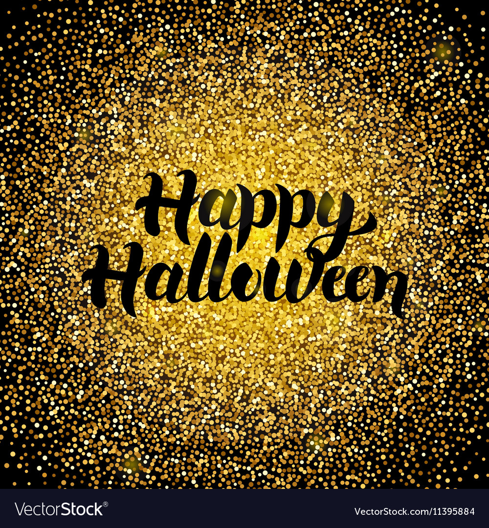 Happy Halloween Gold Design