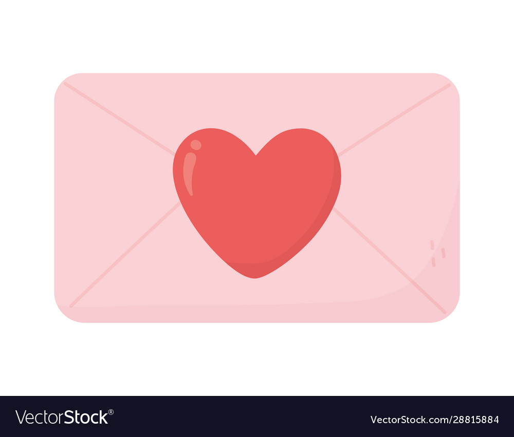 Happy valentines day envelope heart love messsage