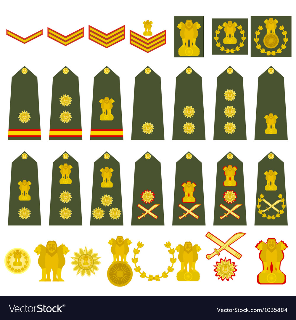 Indian Army insignia vector image