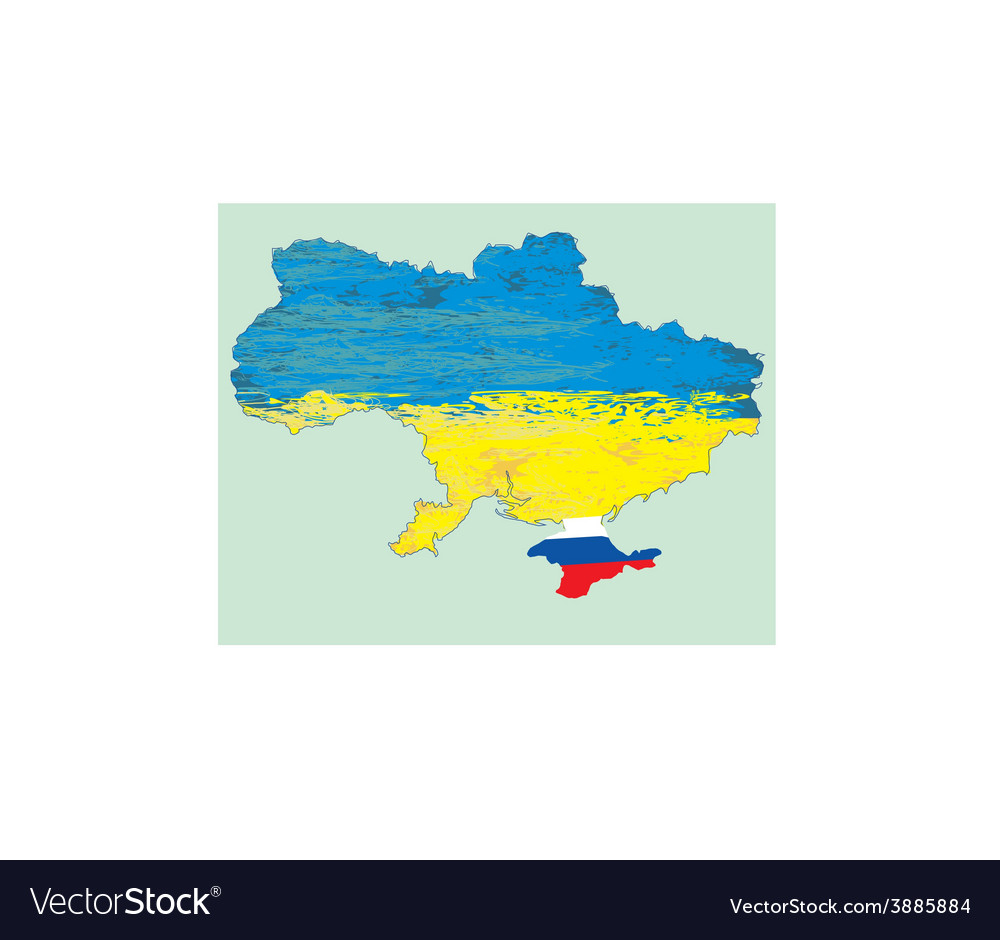 Ukraine map Russia in Crimea