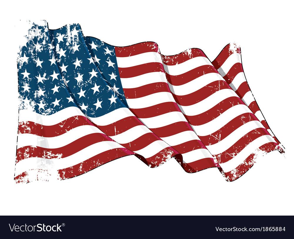Us flag wwi wwii 48 stars grunge