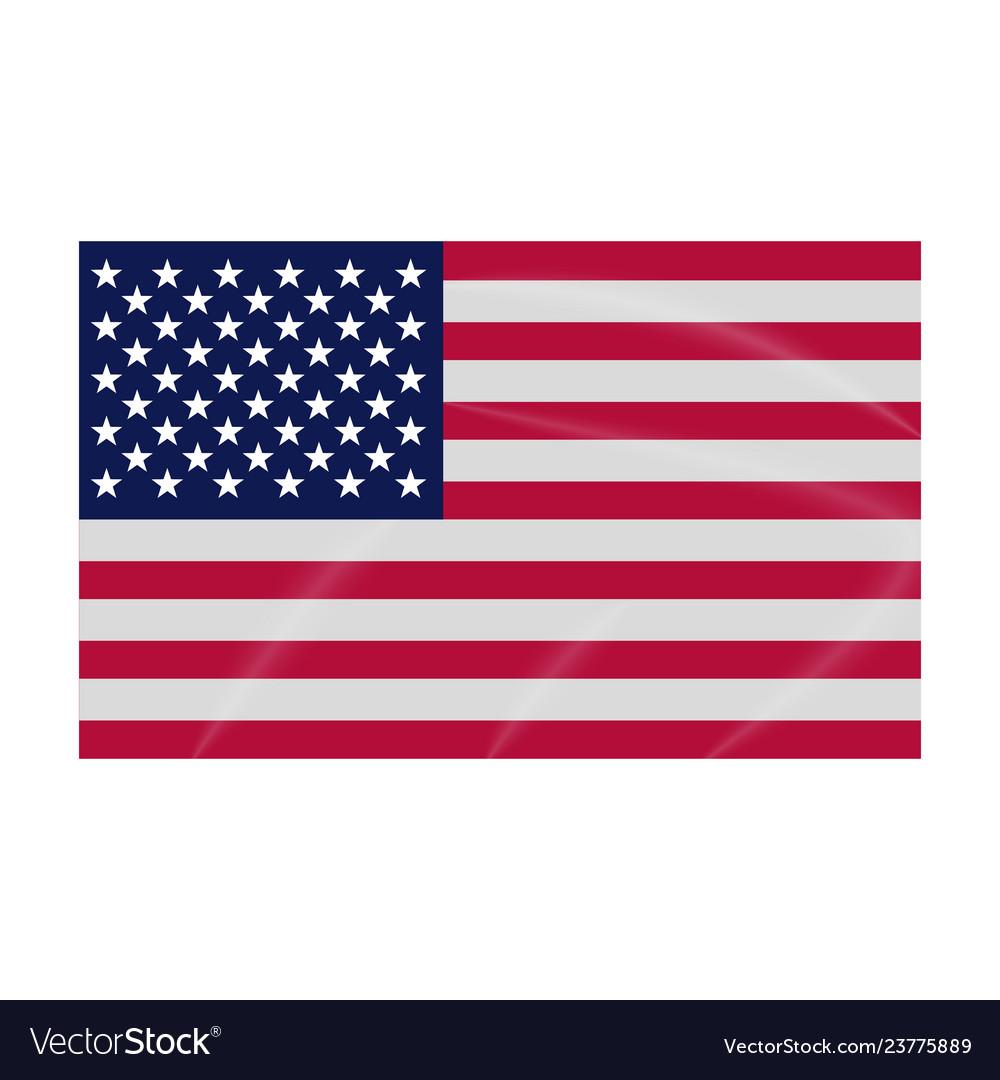 Flag icon usa colored flag